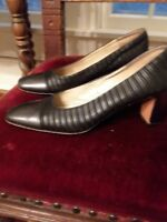 Feragamo shoes for women size 10 Black & Silver Striped