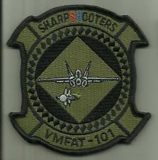 VMFAT-101 SHARP SHOOTERS USMC PATCH +HOOK BACKING FIGHTER AIRCRAFT TRAINING SQDN