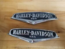 HARLEY DAVIDSON READ KING V-LOGO TANK EMBLEMS SET TOURING SOFTAIL DYNA