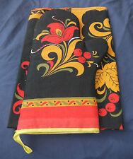 Russian tea towel and glove set, new