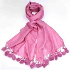 Sciarpa da donna tinta unita in misto cotone