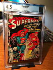 CGC 4.5  Superman #199 (Aug 1967, DC)1st Superman vs Flash race!