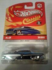 hot wheels classics series  5 # 14 58 edsel dr purple white top black walls