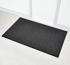 Faro Grey 90 x 120 cm Non Slip Rubber Backed Door Floor Rug Mat