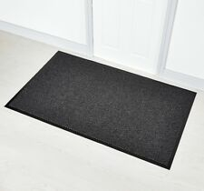 Faro Grey 90 x 150cm Non Slip Rubber Backed Door Floor Rug Mat