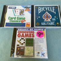 1990's Computer Software Games Solitaire Card Game Classics Crossword Puzzle Win