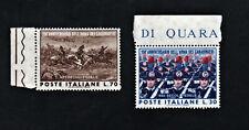 Francobollo Anniversario dell'arma dei carabinieri serie 2 valori nuovi 1964