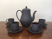 Wedgwood BASALT BLACK Demitasse Coffee Tea Set