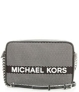 Michael Kors Jet Set Large East West Crossbody Bag Black/White SEALED PACKAGE