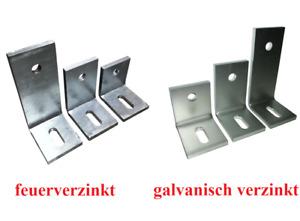 Schwerlastwinkel Stahl Betonwinkel 3 Größen 75-100-150mm x 75mm x 60 verzinkt 24