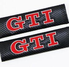 2pcs GTI  Carbon Fiber Auto Seat Belt Cover Pads Shoulder Cushion New
