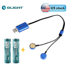 Olight UC Universal Magnetic USB Charger w/ 2PC 14500 750mAh Battery US Stock