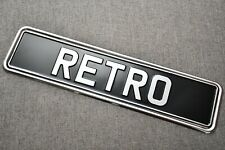 2 x CHROME METAL NUMBER PLATE SURROUND HOLDER - VINTAGE CLASSIC CARS