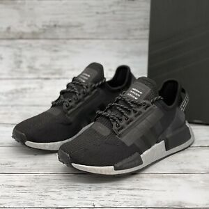 Adidas Originals NMD_R1 V2 'Black Silver' Women's Size 6 Boost Sneakers FW5449