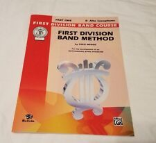 Eb Alto Saxophone First Division Band Method Book Part One Music