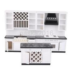 Doll House Miniature Furniture Wooden Delxue Kitchen Set White 1/12th Scale
