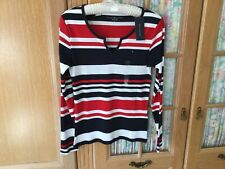TOMMY HILFIGER Ladies LONG SLEEVE TOP/ T Shirt SIZE M (12/14) 100% Cotton BNWT