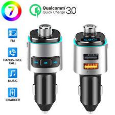 FM Transmitter Auto Bluetooth Kfz Radio Adapter mit Dual USB Ladegerät für Handy
