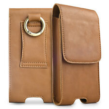 Real Leather Pocket Belt Holster Case Carrying Pouch Cover for Samsung S7 S8 S9+