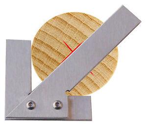 Mittelpunktfinder Edelstahl Zentrierwinkel Mittefinder Ausmittler f.Rundmaterial