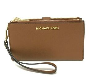 Michael Kors MK Jet Set Travel Double Zip Phone Wristlet Wallet