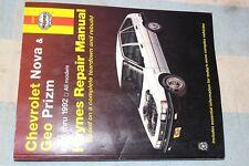 HAYNES 24060 CHEVROLET NOVA GEO PRIZM 1985-1992 85-92 REPAIR MANUAL CLEAN COPY