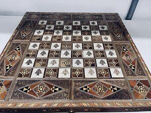 Backgammon Handmade Wooden Mother Pearl