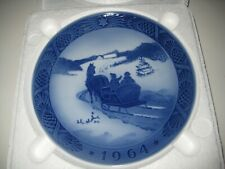"1964 Royal Copenhagen Christmas Plate ""Fetching The Christmas Tree"""
