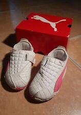 süße Baby-Sneaker von Puma - weiß/rosa - Gr. 20 - white- hot pink