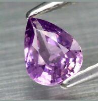 Zafiro Purpura 0.63ct 6x4.6 mm pera sin tratar de Madagascar