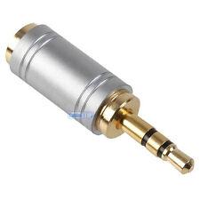 3,5 mm Stereo Jack Plug A Mini Hembra de 2.5 mm Socket Oro para Auriculares Audio Adaptador