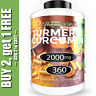 Turmeric Curcumin 2000 mg High Absorption Extra Strength Vegan Capsules 360 Ct