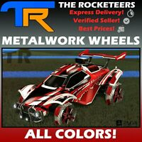 [PS4/PSN] Rocket League All Painted METALWORK  Rocket Pass III Limited Wheels