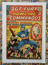 SGT FURY/HOWLING COMMANDOS #13 - DEC 1964 - 2nd SOLO CAPT AMERICA - VG/FN (5.0)