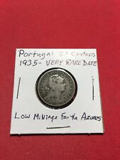 Portugal 1935 50 Centavos In VG Condition Made For Use In The Azores LOW MINTAGE