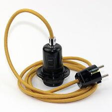 Textilkabel Pendel beige E27 Bakelit-Fassung AG mit Schalter und Stecker