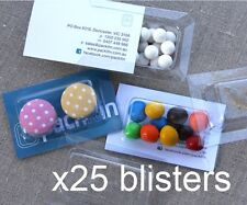 x25 BLISTER PACKS (empty) for wedding bomboniere, gifts, product packaging NEW