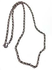 SILVER AND GOLD CHAIN LONG NECKLACE