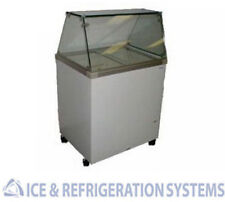 """FRICON 32"""" COMMERCIAL 4 FLAVOR ICE CREAM / GELATO DIPPING CABINET FREEZER"""