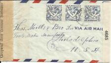 Suriname Sc#C2(x3)-PARAMARIBO 9/7/42-WWII CENSORS-AIR MAIL to USA
