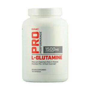 GNC Pro Performance L-Glutamine 1500 MG 180 Capsules