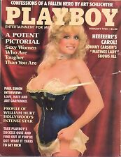 February 1984 Playboy Carson Carol Wayne Justine Greiner Paul Simon Interview