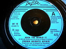 "CROWN HEIGHTS AFFAIR - ROCK THE WORLD  7"" VINYL"