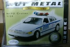 Testors Hot Metal Gold Series 1:24 Scale Nypd Cruiser Model Kit New!