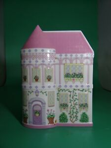 Rare Vintage Lenox Village Planters Canister Fine Porcelain 1993 Pink
