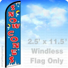 Snow Cones - Windless Swooper Feather Flag Banner Sign 2.5x11.5' - bf