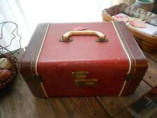 VINTAGE HARD SHELL TRAVEL CASE-TWO TONED BROWN