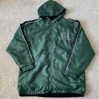 VTG UH University Of Hawaii Warriors Reversible Hoodie Parka Jacket Full Zip XL