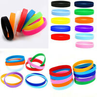 New Unisex Sports Running Wristband Silicone Rubber Bracelet Waterproof Gift