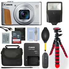 Canon PowerShot SX740 20.3MP Digital Camera Silver 32GB Deluxe Accessory Package